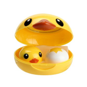 . AMA(TM) Cute Duck Popular Mini Contact Lens Case Box Travel Kit Easy Carry Mirror Container