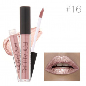 KESEE FOCALLURE New Fashion Lipstick Cosmetics Women Sexy Lips Metallic Lip Gloss