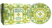 Greenwich Bay WHITE TEA CALENDULA Bundle of BODY BUTTER 240ml and LARGE BLOCK Spa Soap 310ml with Shea Butter, Cocoa Butter and White Tea Extracts