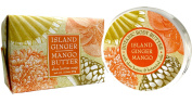 Greenwich Bay ISLAND GINGER MANGO Bundle of BODY BUTTER 240ml and LARGE BLOCK Spa Soap 310ml with Shea Butter, Cocoa Butter and Mango Butter