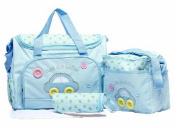 4pcs Baby Nappy Nappy Changing Bag Multi-functional Waterproof Mummy Shoulder Bag Bottle Holder Travel Backpack BC-P