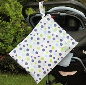 1pc Waterproof trolley hanging bag baby across the nappy to go out to accept the bag