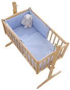 Clair de Lune Starburst Crib/Cradle Quilt and Bumper Set, Blue