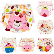 Ateid 6 Pack Baby Girl Cotton Potty Training Pants, 2-3 years