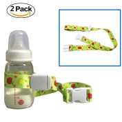 Universal Baby Bottle Safety Strap Belt , HULISEN Baby Sippy Cup Holder Stop Drop for Highchair Stroller Pram,Shopping Basket