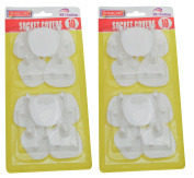 20 x SOCKET COVERS - 3 PIN SAFETY WALL BLANKING PROTECTOTS - .