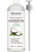Fractionated Coconut Oil 470ml - 100% Natural & Pure MCT Coconut Oil for Hair, Skin,and Aromatherapy Carrier Oil , Massage Oil,Best Skin Moisturiser – UV Resistant BPA Free Bottle