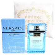 Original Versace Man Eau Fraiche Eau De Toiltte  Eau De Toillette   5ml 0.17oz Cologne for Men Homme Perfume Miniature Mini Parfum Collectible Bottle New In Box