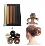 Mokde Mondge 6pcs Bun Maker for Women Girls Magic DIY Perfect Twist Donut Hair Bun Making Styling- 6 Colour