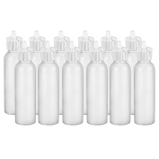 MoYo Natural Labs 60ml Squirt Bottle HDPE Container Commercial Grade Industrial Turret Style 60ml spout bottle Food Bottle with Toggle Adjustable Dispenser Dripping Bottle Pack of 12