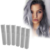 Platinum Silver Temporary Vibrant Hair Colour | With Shades of Frosty Silver Set of 6 Vibrant Hair Colour | It Is a Beautiful Way to Add Pastel Colour Highlights to Your Hair.