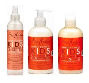 Shea Moisture Kids Hair Care Combination Pack – Includes Mango & Carrot 240ml KIDS Extra-Nourishing Shampoo, 240ml KIDS Extra-Nourishing Conditioner, and 240ml Coconut & Hibiscus KIDS Detangler
