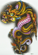 GGSELL GGSELL hot selling extra large new design big size 20cm x 22cm waterproof colourful dragon temporary tattoo sticker for should""