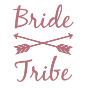 BRIDE TRIBE Bachelorette Metallic Temporary Tattoos by TribeTats | Apply In A Flash With Water | Rose Gold Designs