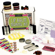 DIY Lip Balm Kit, Filling Tray Included! - (73-Piece Set) Homemade, Natural and Organic | Includes Tubes, Beeswax Pouch, Essential Oils, Labels, Stir Sticks & More