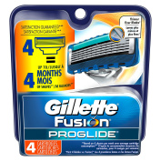 Gillette Fusion ProGlide Manual Men's Razor Blade Refills, 4 Count