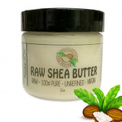 Raw Shea Butter-2 Sizes 470ml & 60ml-100% Pure, Virgin, Unrefined, Raw Ivory Shea Butter from NakedOil (60ml