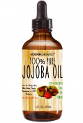 Jojoba Oil - Molivera Organics Premium Jojoba Oil 120ml 100% Pure Organic Cold Pressed Unrefined Best for Hair, Skin, Face & Nails – Great for DIY – UV Resistant Bottle–Satisfaction Guarantee