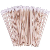 200 Count 15cm Cotton Swabs with Wooden Handles Cotton Tipped Applicator