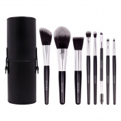 Docolor 8 Pieces Professional Makeup Brush Set Silky Soft Cosmetics Brushes Kit with Brush Holder