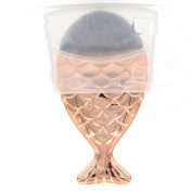 Coshine Pro Rose Gold Mermaid Nylon Hair Foundation Makeup Brush, For Foundation, Concealer and Cream