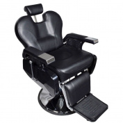 Real Relax All Purpose Classic Beauty Hydraulic Recline Barber Chair Salon Spa Shampoo Equipment Black