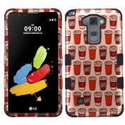 Asmyna Cell Phone Case for LG K520 (Stylus 2) - Give Me Coffee (2D Rose Gold)/Black