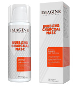 Bubbling Charcoal Clay Face Mask, Detoxifying, Oxygenating, Purifying, Moisturising, with a Powerful Complex of Vitamins Herbs and Extracts