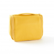Small Hanging Toiletry Bag - Full Grain Leather - Yellow Pop