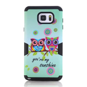 SudmanD® Samsung Galaxy Note 5 Shell/Case, Super Hybrid PC and Silicone 2 in 1 Protective Case for Samsung Galaxy Note 5, Sunshine Owls Case for Samsung Galaxy Note 5.