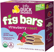 Little Duck Organics Fig Bars - Fig + Strawberry + Beet - 6ct120ml