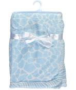 "Honey Baby ""Soft Giraffe"" Plush Blanket - blue, one size"