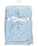 """Honey Baby """"Soft Giraffe"""" Plush Blanket - blue, one size"""