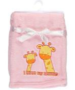 """Honey Baby """"I Love Mommy"""" Plush Blanket - pink, one size"""