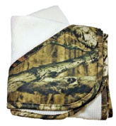 Mossy Oak Camo Baby Blanket Thermal with Corner Head Pocket