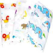 3 Muslin Baby Swaddle Blankets Calms Cranky Newborn Boys. Durable, Soft & Breathable Cotton Baby Swaddling, Receiving Blankets For Deeper Sleep. A Baby Shower Gift Like Aden And Anais Swaddle Blanket.