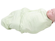 Happy Cherry Newborn Infant Baby Cotton Light Green Swaddle Baby Wrap Blanket, 0-5 Months