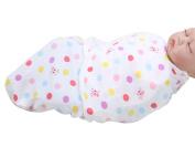 Happy Cherry Newborn Infant Baby Cotton Polka Dot Swaddle Baby Wrap Blanket, 0-5 Months
