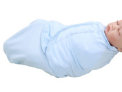 Happy Cherry Newborn Infant Baby Cotton Solid Blue Swaddle Baby Wrap Blanket, 0-5 Months