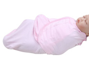 Happy Cherry Newborn Infant Baby Cotton Solid Pink Swaddle Baby Wrap Blanket, 0-5 Months