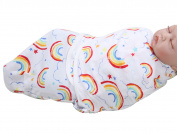 Happy Cherry Newborn Infant Baby Cotton Rainbow Swaddle Baby Wrap Blanket, 0-5 Months