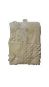Little Beginnings Mixed Texture fleece Blankets - yellow