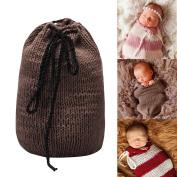 Sunmig Newborn Baby Photo Prop Sleeping Bag Handmade Crochet Knitted Photography