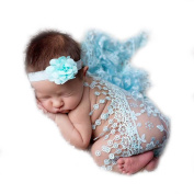 Sunmig Newborn Baby Photo Props Floral Lace Layers Photography Tassel Wrap Scarf