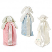 Bunnies By The Bay Bundle of 3 Buddy Blankets - Lamb, Blue Bunny & Pink Bunny