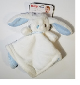 Security Buddy Signature Collection Blanket, White & Blue Bunny