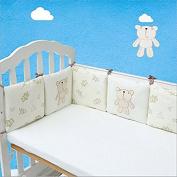 Herasa 100% Cotton Percale Breathable Padded Mesh Crib Bumper Pad