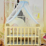 Baby Canopy Netting for Insect Mesh Cover With Dome Hanging; Toddler Crib Bed Hanging Princess Mosquito Net