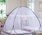 6MILES 1 Pc New Fashion Summer Anti-mosquito Bites Folding Attached Bottom Net Camping For Bed Pop Up Nursery Guard Tent Yurt Baby Toddlers Kids Adult Sleeping Playhouse With Stand