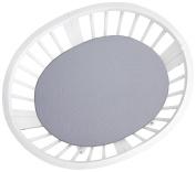 Oilo Stokke Mini Mosi Crib Sheet, Charcoal